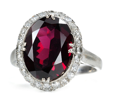 Glorious Garnet Diamond Cluster Ring