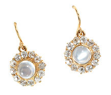Once in a Blue Moon: Edwardian Moonstone Diamond Earrings