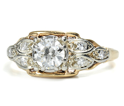 Leaves of Gold - Antique Diamond Ring