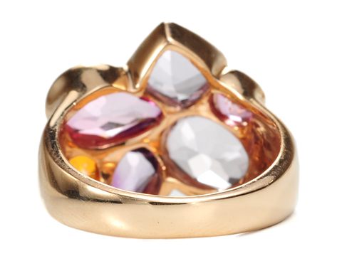 Italian Pizzazz in a Multi-Gem Ring
