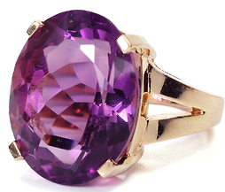 Big Bold & Beautiful Amethyst Ring