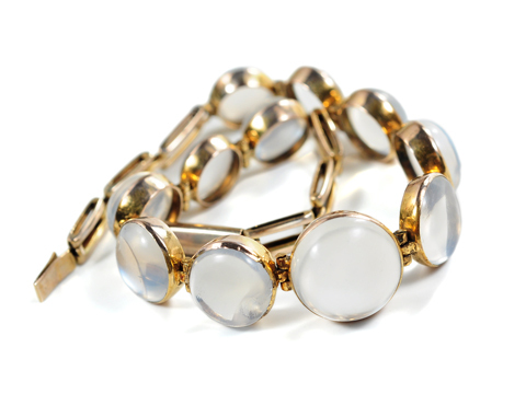 Moonbeams & Moonstones in an Edwardian Bracelet