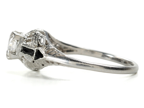 Classic Art Deco Diamond & Onyx Ring