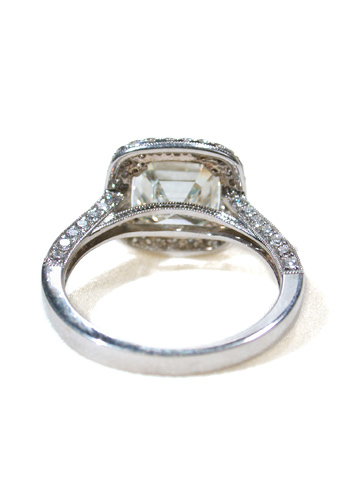 Asscher Cut Diamond Ring of 3.0 c