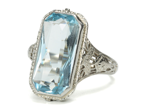 Aquamarine Rings Macys Aquamarine Rings Art Deco
