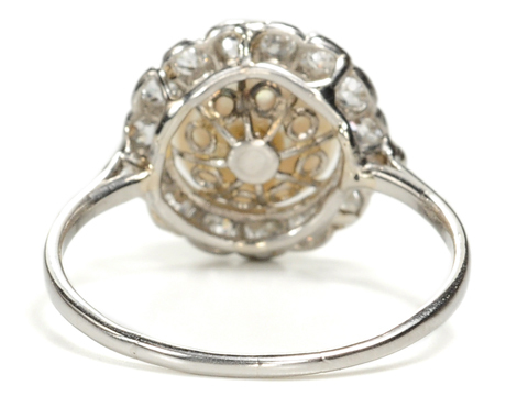 Edwardian Pearl & Diamond Cluster Ring