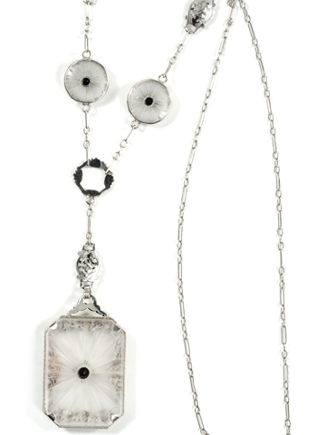 Rock Crystal Wonder - Art Deco Pendant