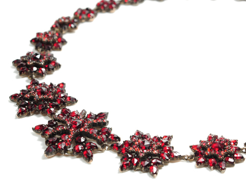 Not the Usual Victorian Bohemian Garnet Necklace