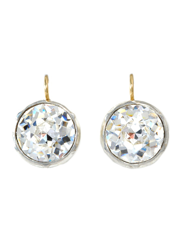 Icy Hot Intensity - Paste Solitaire Earrings