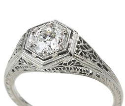 Old European Cut Diamond Ring of .81 carats