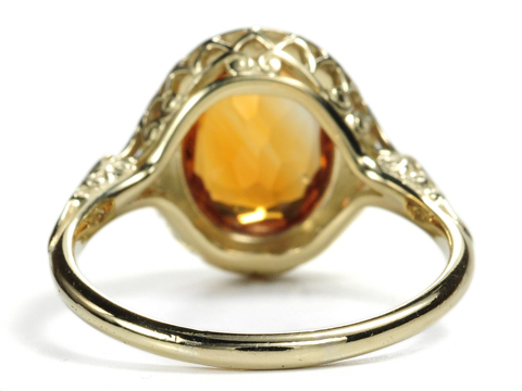 Flattery in a Citrine Ring