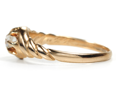 Twists of Gold - Antique Diamond Ring