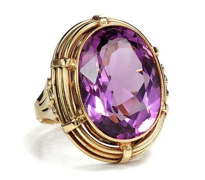 Large & Lush: Mid 20th C. Amethyst Ring
