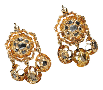 Iberian Treasure: Georgian Table Cut Diamond Earrings