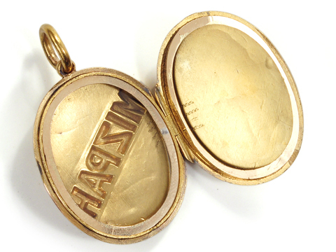 Victorian Gold Mizpah Locket