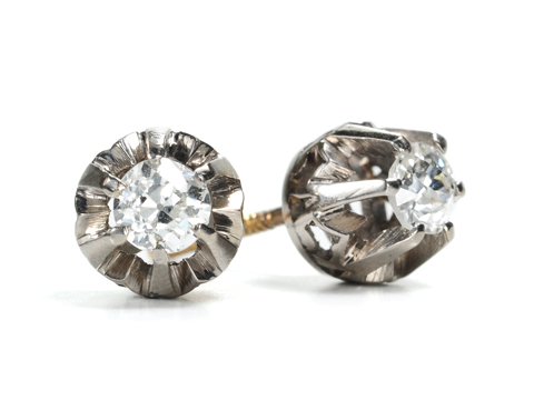 Blossoms & Bling: Art Deco Diamond Earrings