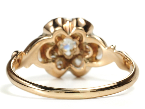 Diamonds & Roses in an Edwardian Ring