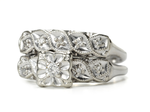 Forever Together: Diamond Wedding Set