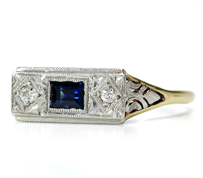 Tradition: Art Deco Sapphire Diamond Ring