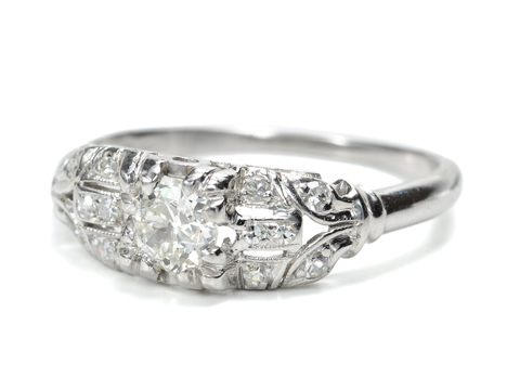 1930 Platinum Diamond Ring