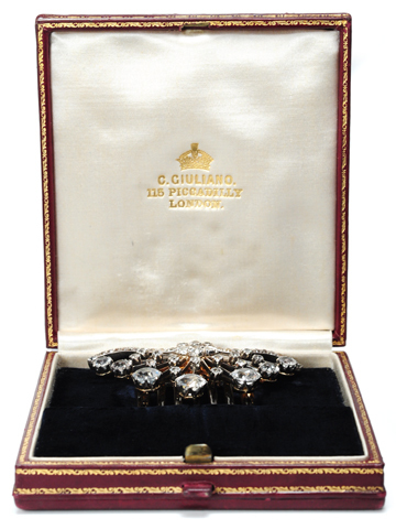 Spray of Gems - Giuliano Boxed Tiara Comb