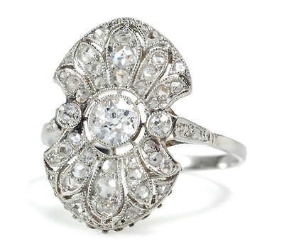 Illustrious Antique Diamond Ring