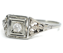 Scrolling Luxury - Vintage Diamond Ring