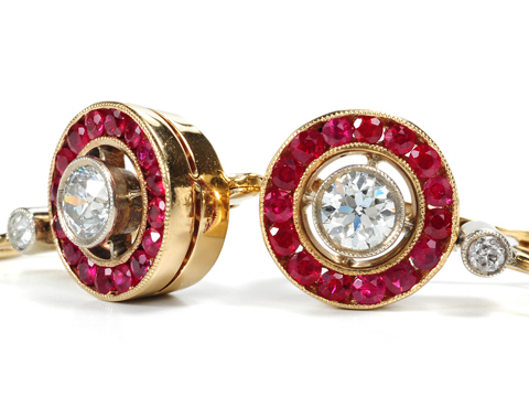 Gorgeous Ruby & Diamond Earrings