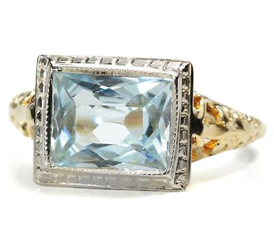 Renaissance Flair - Aquamarine Ring