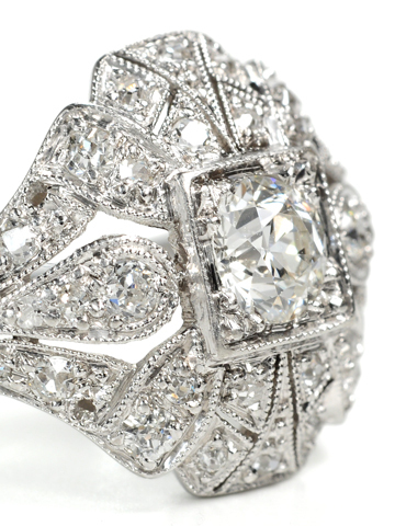 Art Deco Diamond Dome of Desire Estate Ring