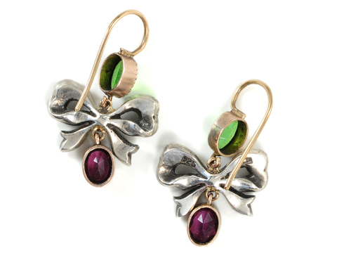 Antique Paste Bow Earrings