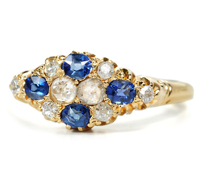 Antique Sapphire Diamond Ring