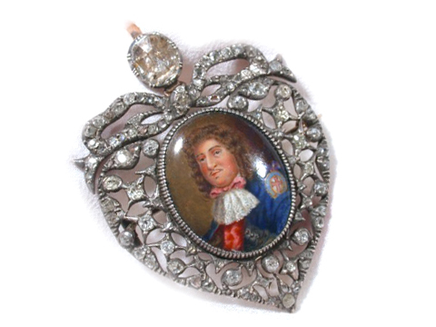 Historical Regal Enamel Miniature in Diamonds