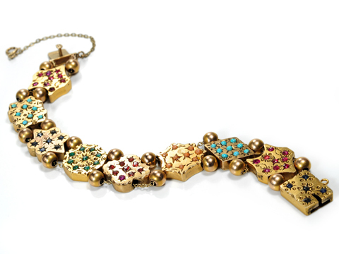 Early 20th C. Slide Charm Bracelet