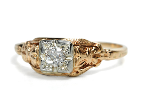 But Of Course: Vintage Art Deco Diamond Ring