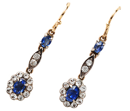 Take the Plunge - Sapphire Earrings