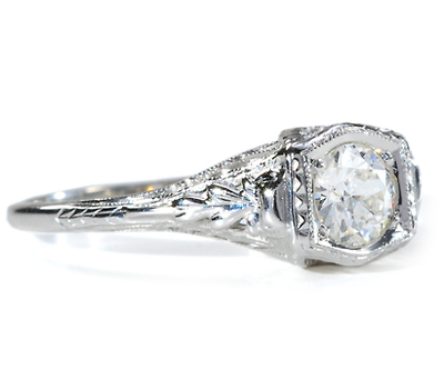 Old European Diamond Engagement Ring