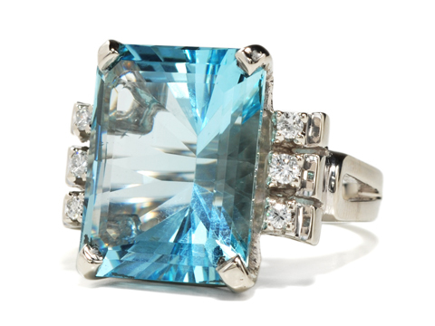 Gem of  an Aquamarine Diamond Ring