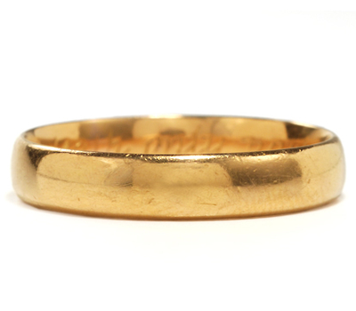 Antique Gold Poesy Ring