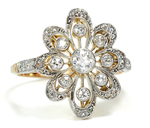 All A'Bloom: Diamond Flower Ring