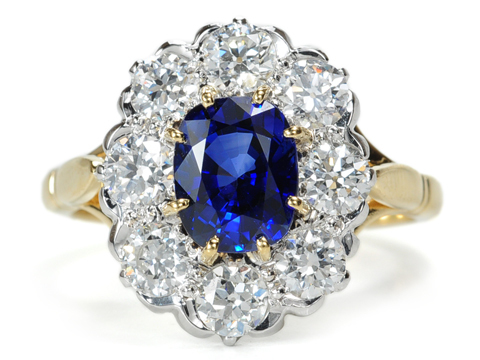 Look of the Decade: Sapphire Diamond Engagement Ring
