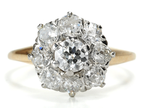 Art Deco Diamond Cluster Ring