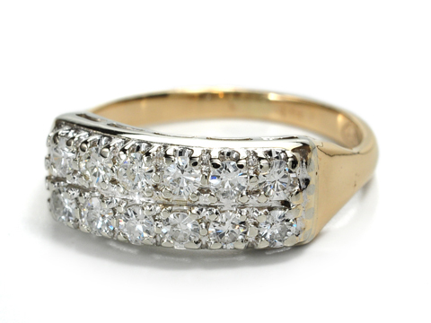 Dazzling Mid Century Diamond Ring