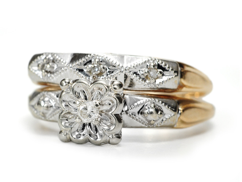 The Perfect Pair: Diamond Wedding Set