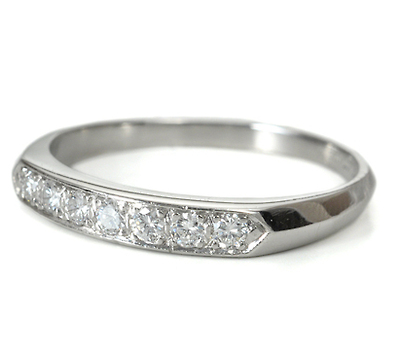Seven Diamond Platinum Band