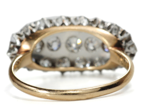 Diamonds Aplenty in a Triple Row Ring