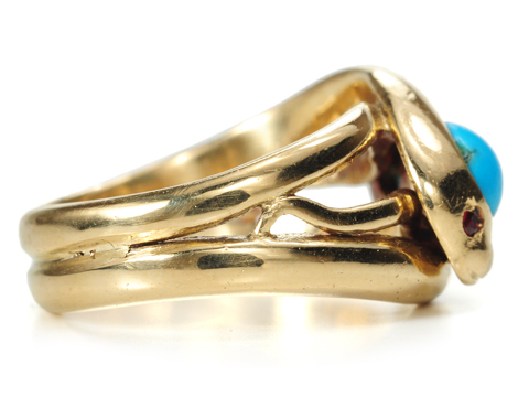 Sssssensual Turquoise Snake Ring