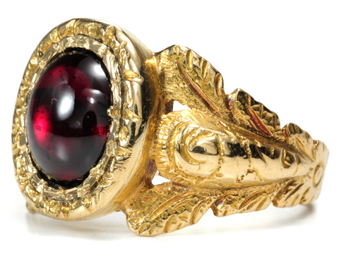 Marvelous Georgian Garnet Ring