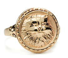 Just Purrfect: Yellow Gold Cat Ring