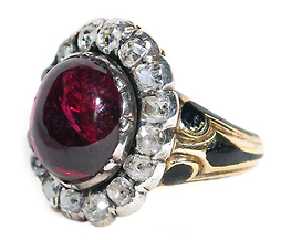 Glorious Garnet and Diamond Ring